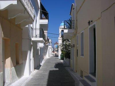 Calles de Andros. Las islas Cícladas.