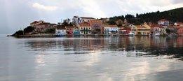 fiskardo.jpg.Alquiler del barco en el Jónico:  Fiscardo, en Cefalonia.