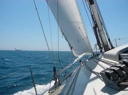 virar.jpg.Maniobras de los barcos: virada por avante.