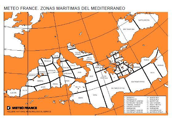 Zonas.jpg.Zonas meteorológicas del Mediterráneo